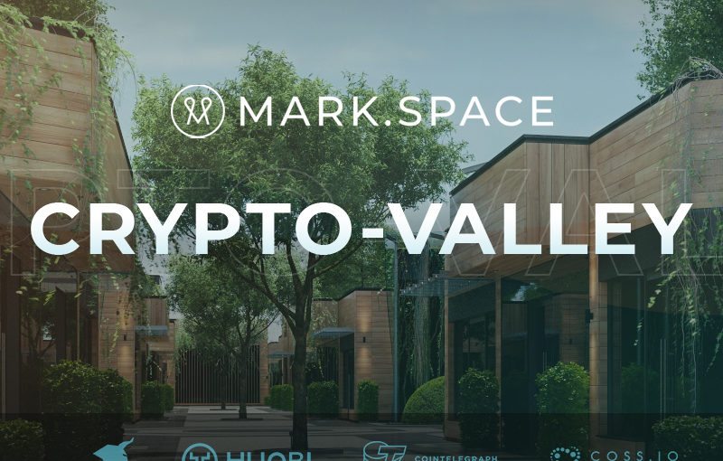 Blockchain Powered 3D and VR Open Source Platform MARK.SPACE Announces the Launch of CRYPTO.VALLEY Virtual  City